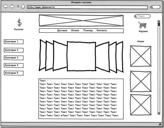прототип сайта